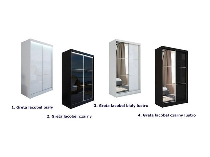 Szafa przesuwna Greta 3X - biała lacobel lustro Lustro Drewno Pomieszczenie Garderoba