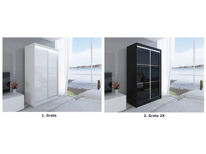 Szafa przesuwna Greta 3X - biała lacobel lustro Rodzaj drzwi Przesuwne Drewno Kategoria Szafy do garderoby