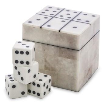 KOŚCI gra w ozdobnym pudełku, wys. 8 cm