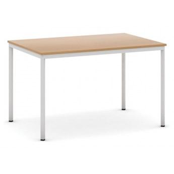 Stół do jadalni i stołówki, jasnoszara konstrukcja, 1200x800 mm, buk