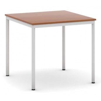 Stół do jadalni i stołówki, jasnoszara konstrukcja, 800x800 mm, czereśnia