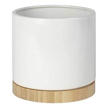 Osłonka doniczki Bamboo 13 cm biała