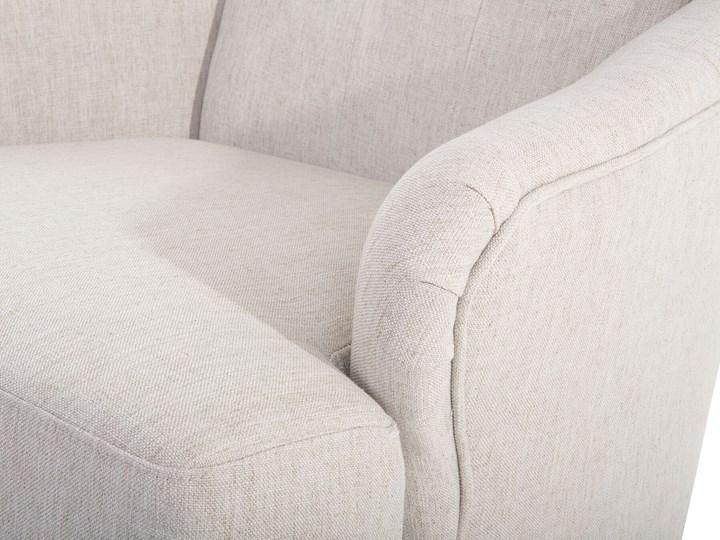 Fotel uszak beżowy tapicerowany pikowany wysokie oparcie vintage retro salon Szerokość 66 cm Tworzywo sztuczne Fotel tradycyjny Drewno Wysokość 100 cm Fotel pikowany Głębokość 78 cm Tkanina Styl Klasyczny