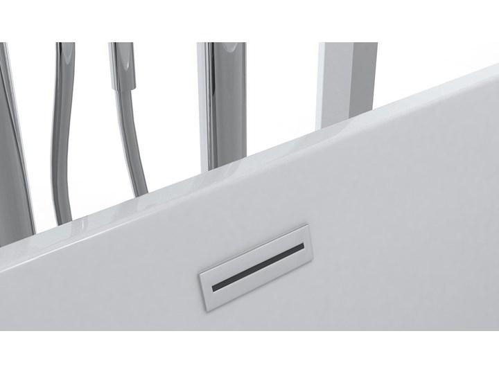 Wanna wolnostojąca biała akrylowa 170 x 80 cm system przelewowy owalna nowoczesna Długość 170 cm Wolnostojące Kolor Biały