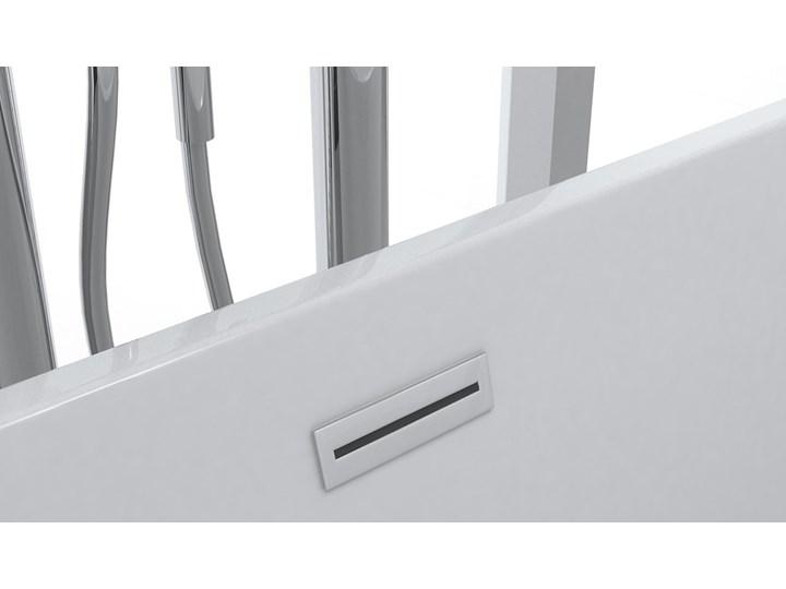 Wanna wolnostojąca biała akrylowa 170 x 80 cm system przelewowy owalna nowoczesna Kolor Biały Wolnostojące Długość 170 cm Kategoria Wanny