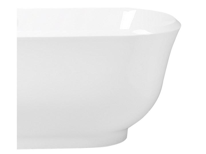 Wanna wolnostojąca biała akrylowa 170 x 77 cm system przelewowy owalna współczesna Wolnostojące Długość 170 cm Kolor Biały Kategoria Wanny