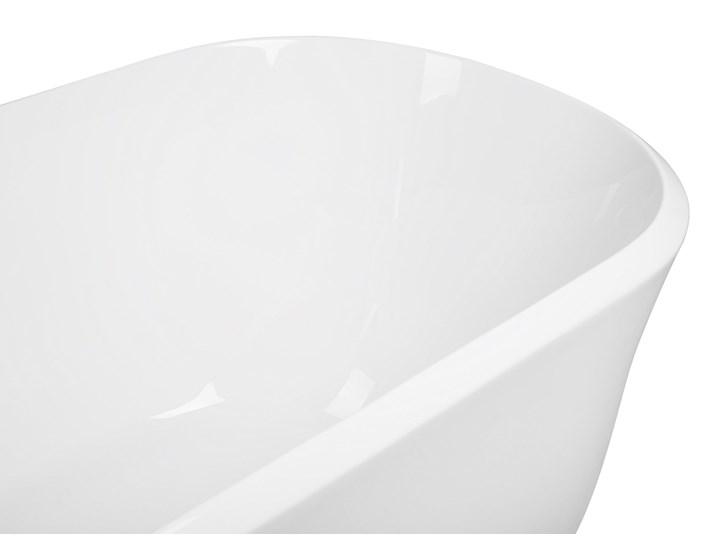 Wanna wolnostojąca biała akrylowa 170 x 77 cm system przelewowy owalna współczesna Długość 170 cm Wolnostojące Kolor Biały
