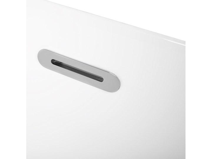 Wanna wolnostojąca biała akrylowa 170 x 77 cm system przelewowy owalna współczesna Długość 170 cm Wolnostojące Kolor Biały Kategoria Wanny