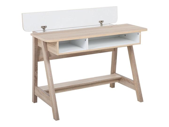 Biurko jasne drewno 110 x 60 x 75 cm styl skandynawski Biurko konsola Płyta MDF Szerokość 110 cm Głębokość 60 cm Pomieszczenie Biuro