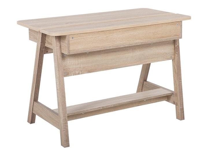 Biurko jasne drewno 110 x 60 x 75 cm styl skandynawski Płyta MDF Szerokość 110 cm Głębokość 60 cm Biurko konsola Pomieszczenie Biuro