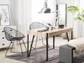 Stół do jadalni jasne drewno czarne metalowe nogi 130 x 90 cm prostokątny styl industrialny Płyta MDF Długość 130 cm  Pomieszczenie Stoły do jadalni