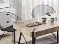 Stół do jadalni brązowoszary drewno czarne metalowe nogi 130 x 90 cm prostokątny styl industrialny Płyta MDF Długość 130 cm  Kolor Czarny