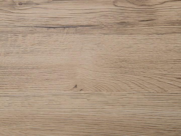 Stół do jadalni jasne drewno czarne metalowe nogi 130 x 90 cm prostokątny styl industrialny Długość 130 cm  Płyta MDF Pomieszczenie Stoły do kuchni