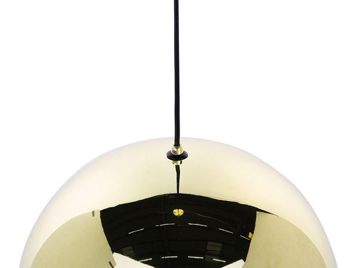 Lampa sufitowa złota metalowa 124 cm ażurowa czarna osłona wysoki połysk glamour Lampa z kloszem Lampa druciana Kolor Czarny