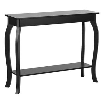Konsola stolik z półką czarny 100 x 30 cm styl prowansalski salon przedpokój sypialnia