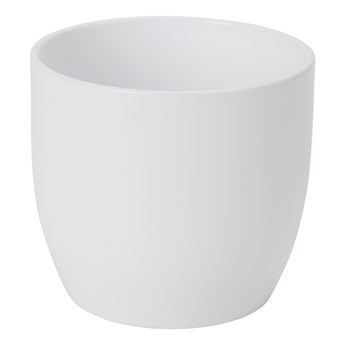 Doniczka ceramiczna GoodHome 12 cm biała