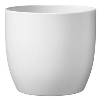 Doniczka ceramiczna GoodHome 19 cm biała