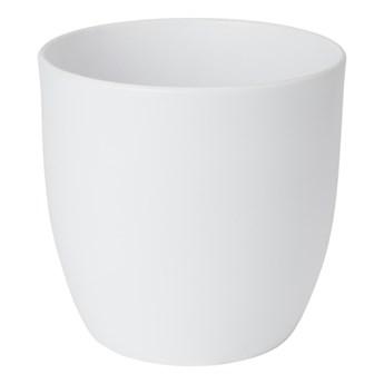 Doniczka ceramiczna GoodHome 24 cm biała