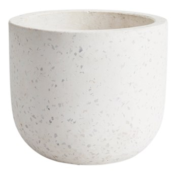 Doniczka GoodHome Terrazzo 12 cm biała