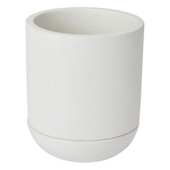 Doniczka z podstawką GoodHome 12 cm biała