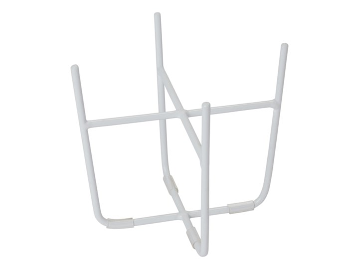 Stojak stalowy GoodHome 12 cm biały Metal