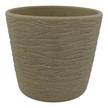 Osłonka doniczki Cermax 15 cm brąz struktura