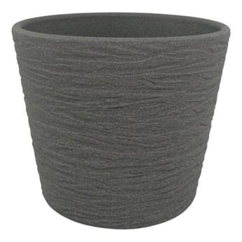 Osłonka doniczki Cermax 19 cm ciemny grafit struktura