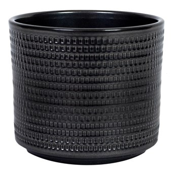 Osłonka doniczki Cermax Calla cylinder 12 cm stare srebro