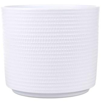Osłonka doniczki Cermax Calla cylinder 16 cm biała
