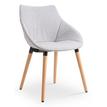 Krzesło tapicerowane na drewnianych nogach K226