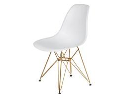 Krzesło do nowoczesnych jadalni na złotym stelażu DSR Gold