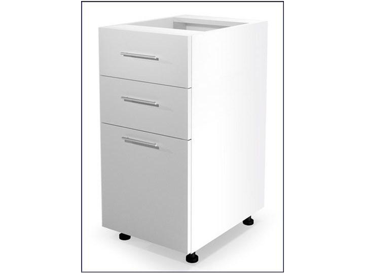 Kuchenna szafka dolna z szufladami Limo 6X - biały połysk