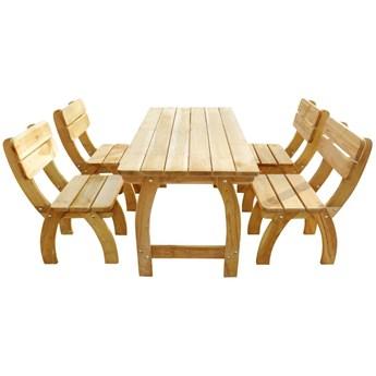 Zestaw drewnianych mebli ogrodowych Darco 4X - brązowy