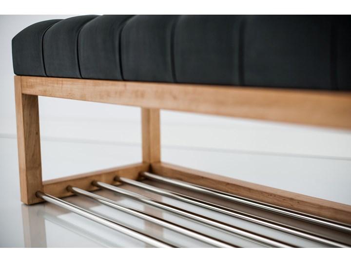 Ławeczka Pufa Pikowana Grafitowy Guzik Tapicerowany LPP-4 Rozmiary od 50 cm do 200 cm Materiał nóżek Drewno Pomieszczenie Salon