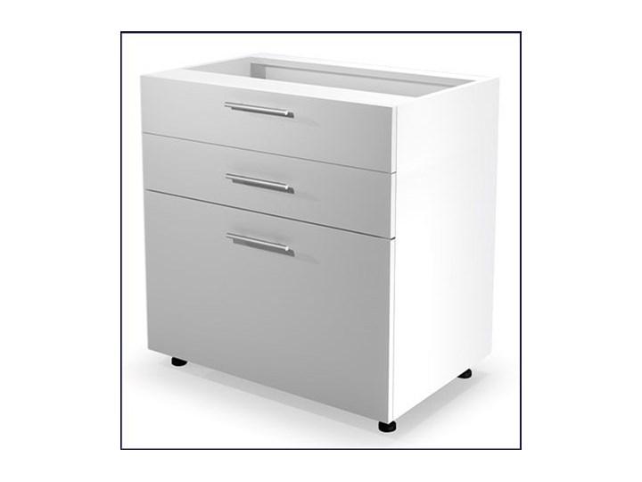 Kuchenna szafka dolna z szufladami Limo 11X - biały połysk Kategoria Szafki kuchenne Płyta MDF Kolor Szary