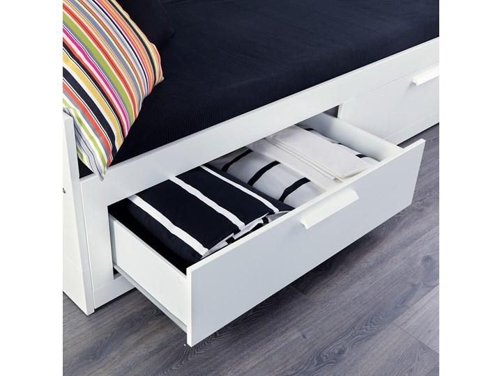 BRIMNES Leżanka z 2 szufladami, 2 materace Kolor Biały Rozmiar materaca 80x200 cm