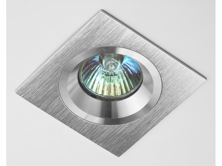Kwadratowa lampa sufitowa podtynkowa aluminium - oprawydladomu.pl Oprawa led Oprawa halogenowa Oprawa stropowa Kwadratowe Kategoria Oprawy oświetleniowe