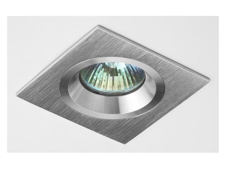 Kwadratowa lampa sufitowa podtynkowa aluminium - oprawydladomu.pl Oprawa led Oprawa stropowa Oprawa halogenowa Kategoria Oprawy oświetleniowe Kwadratowe Kolor Srebrny