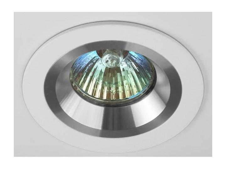Okrągła oprawa wpuszczana downlight MR16 biała Alu - oprawydladomu.pl Oprawa led Kolor Biały Kwadratowe Oprawa stropowa Oprawa halogenowa Kategoria Oprawy oświetleniowe