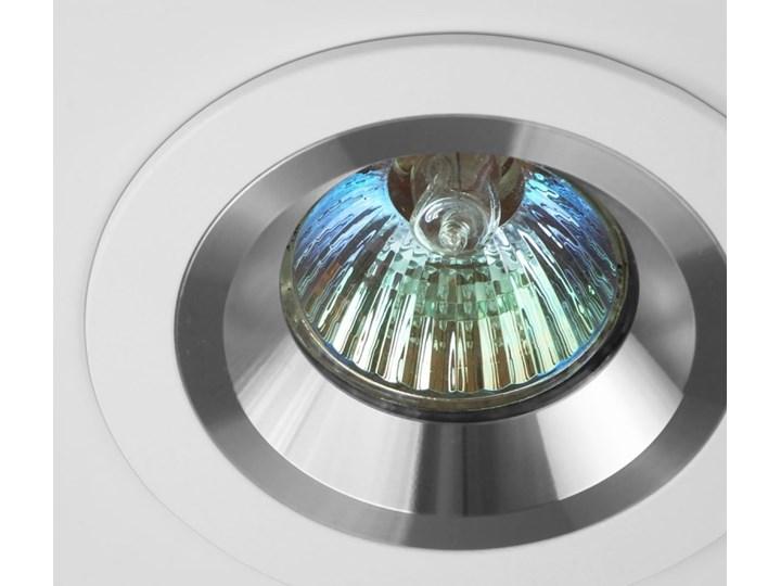 Okrągła oprawa wpuszczana downlight MR16 biała Alu - oprawydladomu.pl Kwadratowe Oprawa stropowa Oprawa halogenowa Oprawa led Kolor Biały