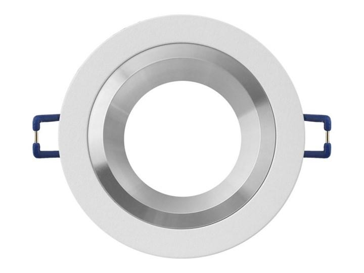 Okrągła oprawa wpuszczana downlight MR16 biała Alu - oprawydladomu.pl Kolor Biały Oprawa halogenowa Kwadratowe Oprawa stropowa Oprawa led Kategoria Oprawy oświetleniowe
