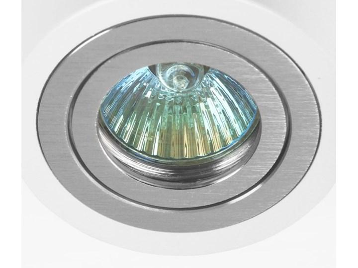 Oprawa okrągła spot biała alu mat wodoodporna IP44 - oprawydladomu.pl Oprawa halogenowa Oprawa wodoodporna Oprawa stropowa Okrągłe Kolor Biały