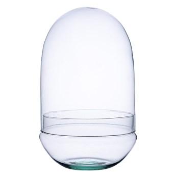 Szklane terrarium jajko W-573A+W-573 H:38cm D:25cm