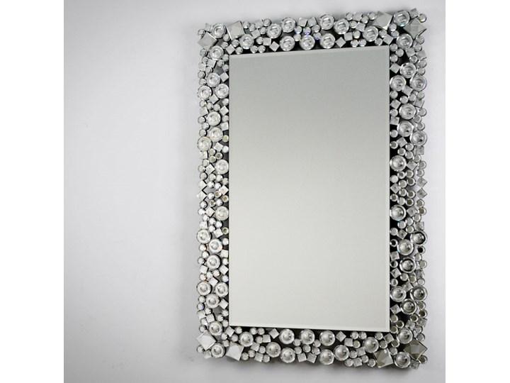 Lustro z kryształkami w stylu glamour  60 x 90 cm 13tm171PM Kategoria Lustra Prostokątne Ścienne Lustro z ramą Pomieszczenie Przedpokój