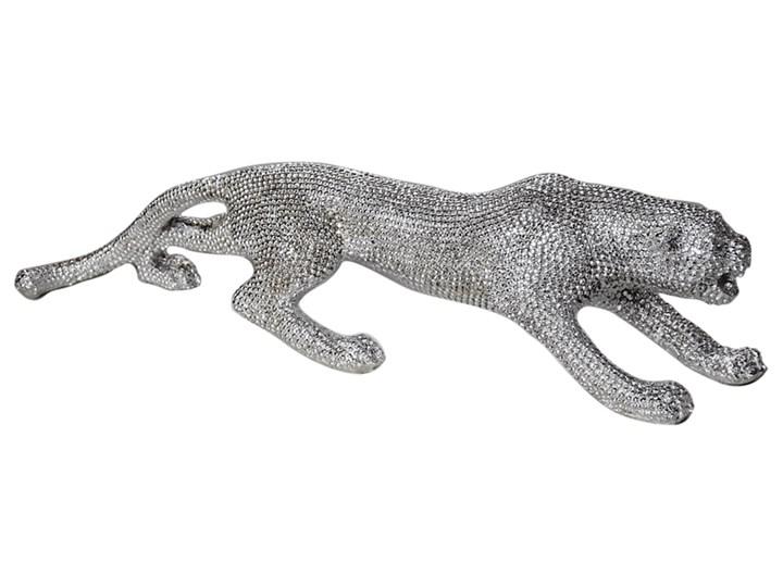 """Srebrna """"diamentowa"""" figura lamparta 55 x 12 x 14 cm 1011-4 Kolor Srebrny Kategoria Figury i rzeźby"""