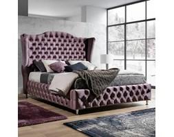 Eleganckie łóżko tapicerowane do sypialni VALENTINO w stylu glamour