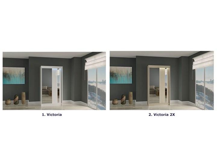 Szafa przesuwna Victoria 2X - wenge lustro Drewno Pomieszczenie Przedpokój