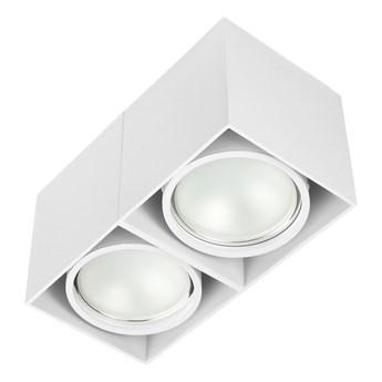 Oprawa sufitowa natynkowa ruchoma podwójna biała ES QR AR111 prostokąt