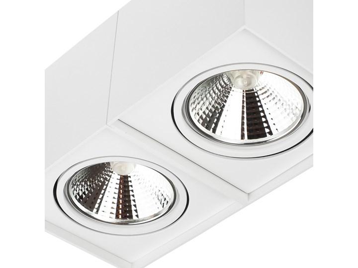 Podwójna oprawa natynkowa ruchoma na sufit ES AR111 2x GU10 biała mat Oprawa ruchoma Prostokątne Oprawa stropowa Oprawa halogenowa Kolor Biały