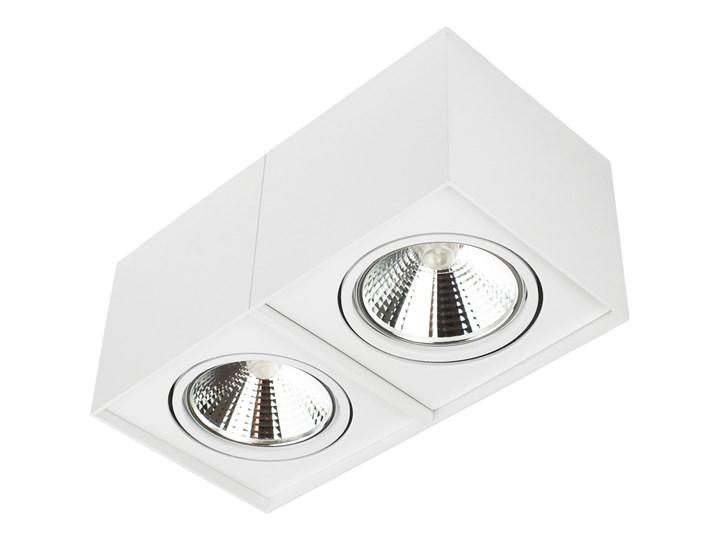 Podwójna oprawa natynkowa ruchoma na sufit ES AR111 2x GU10 biała mat Oprawa stropowa Oprawa halogenowa Prostokątne Oprawa ruchoma Kolor Biały Kategoria Oprawy oświetleniowe